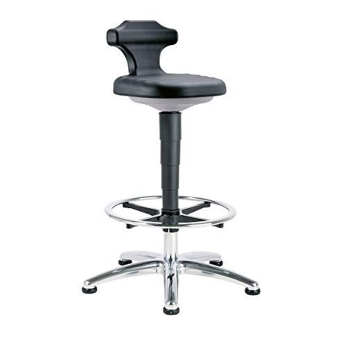 bimos Stehsitz - für Reinraum - Höhenverstellbereich 510 – 780 mm - Arbeitshocker Arbeitsstuhl Arbeitsstühle ESD-Arbeitshocker ESD-Stehhilfe ESD-Stehhilfen Hocker Laborarbeitshocker Laborhocker Reinraumarbeitshocker Stehhilfe Stehhilfen Stehsitz Stehsitze