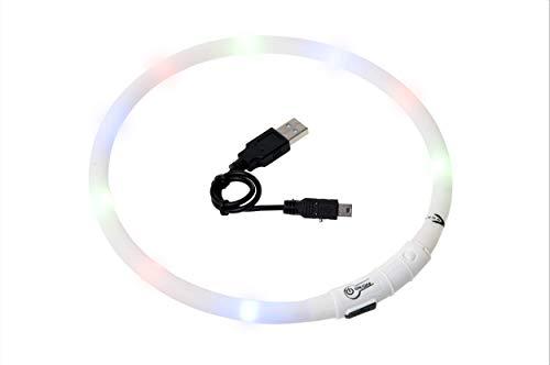 Karlie  Visio Light LED Schauchhalsband, WEIß, 20-70 cm
