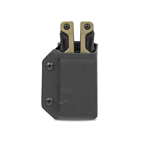 Clip & Carry Kydex Multitool Sheath for LEATHERMAN OHT - Made in USA (Multi-tool not included) EDC Multi Tool Sheath Holder Holster Cover (Black)