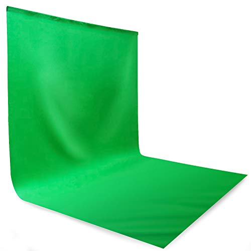 LS Photography 10 x 20 feet Green Photography Screen for Chroma Key, Photo Backdrop Muslin Background for Photo Video Streaming, Soft Textured Seamless Fabric, LNAPL20G
