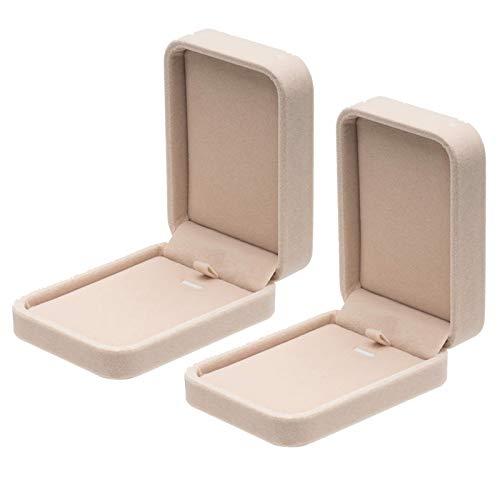 Cajas De Regalo De JoyeríA De Caja Colgante De Collar De Terciopelo CláSico
