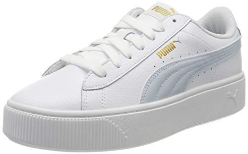 PUMA Vikky Stacked L, Sneakers Donna, Bianco White/Plein Air, 37.5 EU