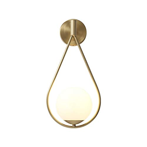 Luces De Pared Lámpara con Forma de Gota de Agua Lámpara de Pared de Cobre Completa Minimalista Moderno Espejo de baño Espejo Dormitorio Estilo Europeo Luz Pared Moderno