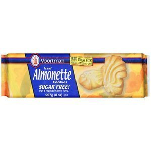 Voortman Iced Almonette Sugar-Free Cookies, 8 oz (Pack of 3)