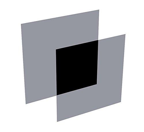 Polarisationsfolie 50 x 50 x 0,4 mm, zirkular 0 Grad, 2 Stück-Set (Links/rechts), Typ ST-37