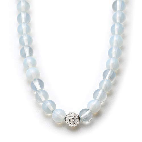 Mondstein Halskette mit Silberperle