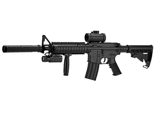 Double Eagle Fucile Airsoft-M83 A2 M4 plastica Rinforzata ABS/Colore Nero/Elettrico (0,5 Joule) -Semi/Full Automatic