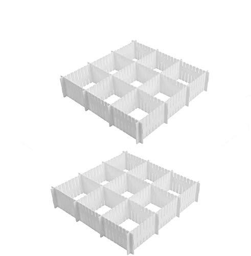 Cozywind 16 Láminas DIY Separadores Cajones, Ajustable Organizador de Cajones para la Ropa Interior Calcetines o Suministros de Oficina