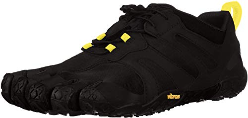 Vibram Men's V 2.0 Trail Running Shoe, Black/Yellow, 46 D EU (46 EU/11.5-12 M US D EU US)