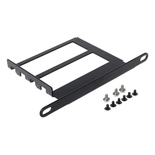 JOYKK Metal Graphics VGA-Kartenhalter VGA-Halterung aus Aluminium für Grafikkarten, Vorderseite, konvertierte Halterung - Schwarz