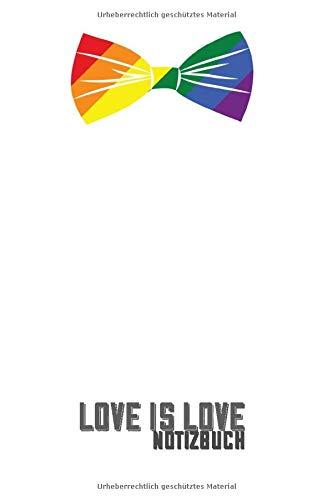 Notizheft: Love is love   Regenbogen Schleife   Pride   120 Seiten vorgefertigte Listen   Liniert   Checkliste   gepunktet   To Do Liste   zum ...   Geschenk   Planer   ca. A5   Schulheft