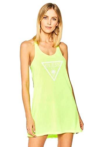Guess - Camiseta de tirantes para mujer, color amarillo neón