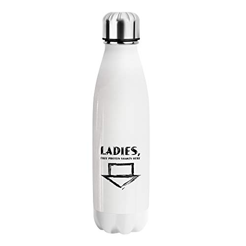 Ladies Free Protein Shakes Water Bottle CO384 Stainless Steel Funny Insulated 500ml Thermos For Hot And Cold Reusable Bottles Sports Outdoor Hiking Gym Drink Flask