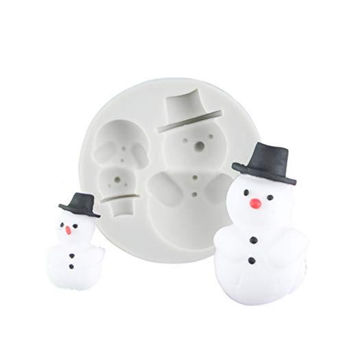 UPKOCH Weihnachtsform Silikon Zucker Fondantform Kuchen Keks Praline Backform Schneemann Design