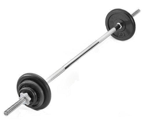 barra de pesas hierro fundido juego de peso...