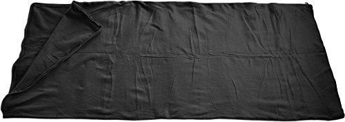 normani Fleece Schlafsack - 190 x 75 cm - 200 g/m² - auch als Inlett verwendbar Farbe Schwarz