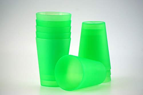 20 Plastik Trinkbecher 0,4 l - grün - Mehrwegtrinkbecher / Partybecher / Becher