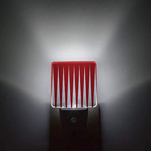 Sensor automático de forma,paquete de 2 luces nocturnas que se conectan a la pared,color,patrón de pintura,baño,baño,dormitorio,pasillo,decoración brillante,luces de noche cuadradas y oscuras para ni