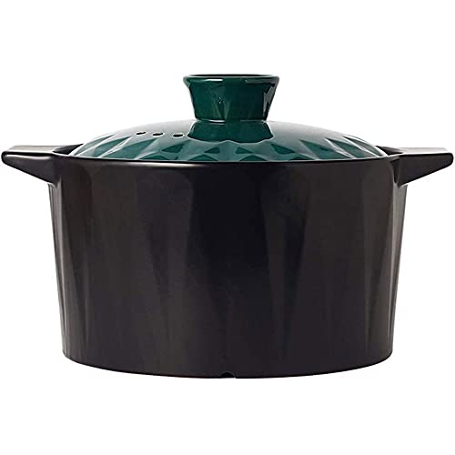 YIBOKANG Platos de cazuela Cazuela de sopa para el hogar, platos de cazuela de cerámica resistente al calor, cazuela especial para estufa de gas, para guiso/caldera/hervir/estofado, varios métod