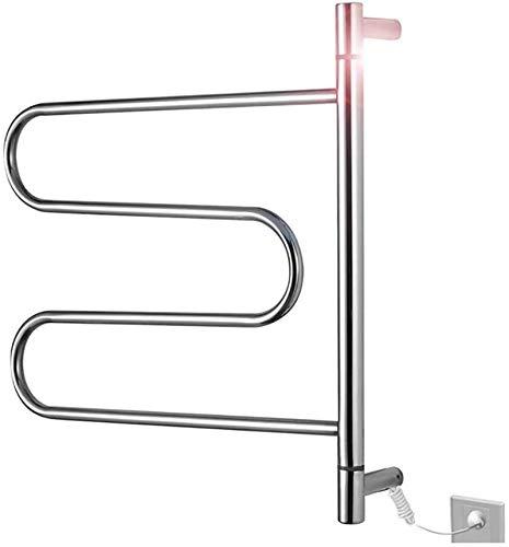 Calentador de toallas con calefacción, calentador de toallas con enchufe eléctrico de...