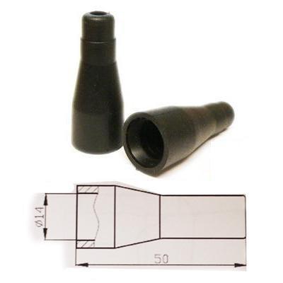 4x HT ISOLATEURS PVC SILICONE POUR RESSORT - 7mm Droit Noir