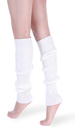 daisysboutique Retro Unisex Adult Junior Ribbed Knitted Leg Warmers (One Size,...