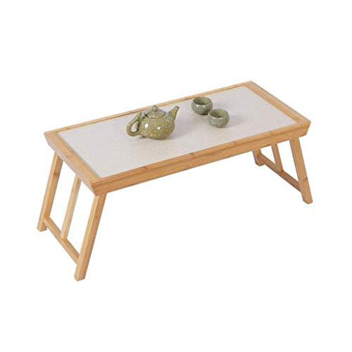 HYY-YY Mesa de cama portátil de bambú plegable de desayuno portátil mesa de café mesa plegable