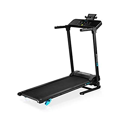 """SereneLife Smart Electric Folding Treadmill ??"""" Easy Assembly Fitness Motorized Running Jogging Exercise Machine with Manual Incline Adjustment, 12 Preset Programs, Black"""