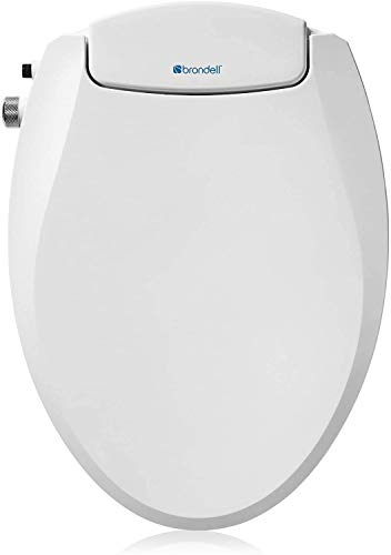 Brondell Swash Non-Electric Seat, Fits Round Toilets, White – Dual Nozzle System, Ambient Water Temperature – Bidet with Easy Installation, S101