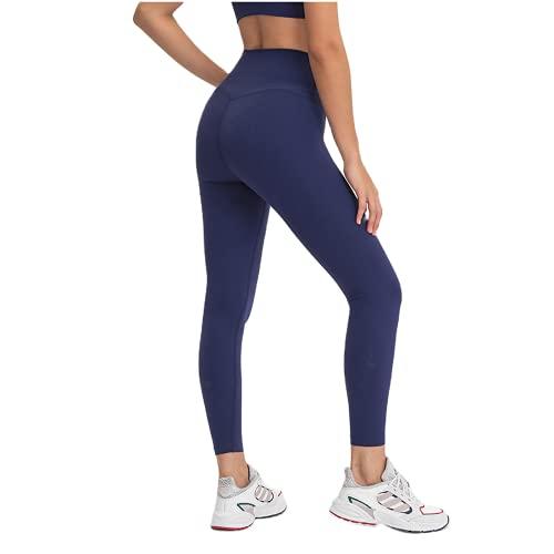 QTJY Pantalones de Yoga para Correr Desnudos, Cintura Ajustada, Cintura Alta, Levantamiento de Caderas, Pantalones de Yoga para Mujeres, Pantalones Deportivos elásticos de Secado rápido IL