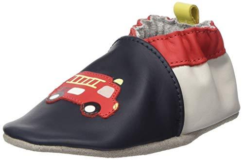 Robeez Baby-Mädchen Fireman Hausschuhe, Marineblau 10, 24 EU