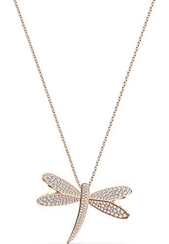 Swarovski Eternal Flower Halskette, weiß, rosé vergoldet