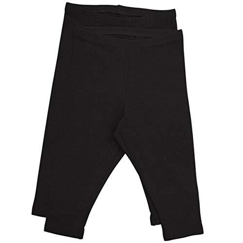 Stretch is Comfort Girl's Infant Leggings 2 - Pack Black XS 3M