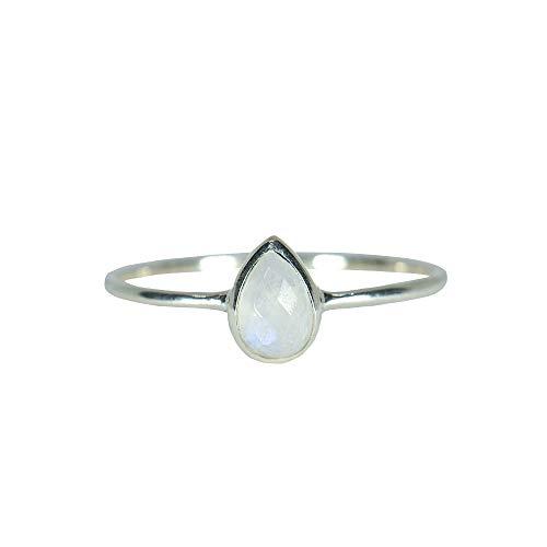Pura Vida Silver Teardrop Moonstone Ring Size 7 - .925 Sterling Silver Ring