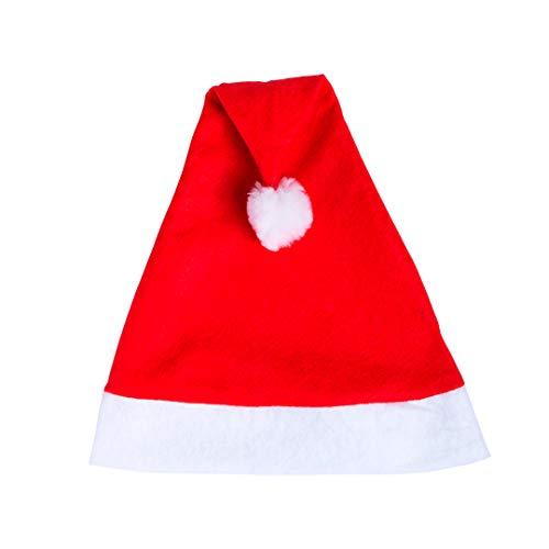 Lote de 12 Gorros de Navidad Papa Noel para Adulto. Detalles de Navidad para Fiestas, cenas, Empresas y familias.
