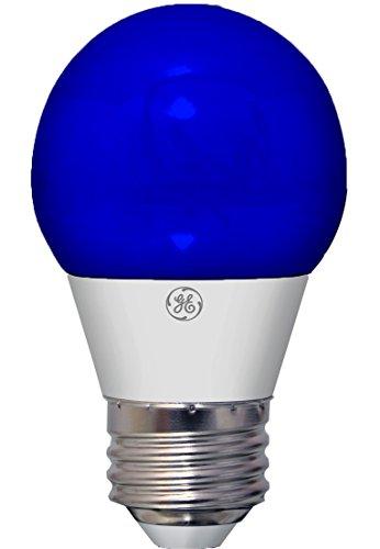 GE LED Party Light Bulb, 40-Watt Replacement, A15, 1-Pack, Blue LED Light, Medium Base