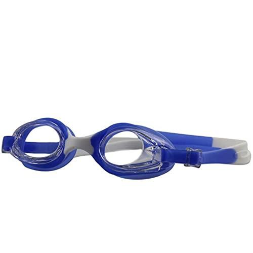 SRXSMGS Schwimmbrille Verstellbare Schutzbrillen für Kinder Schwimmen Anti-Nebel- und Anti-Ultraviolett-Badegläser Silikonrahmen (Color : Blue)