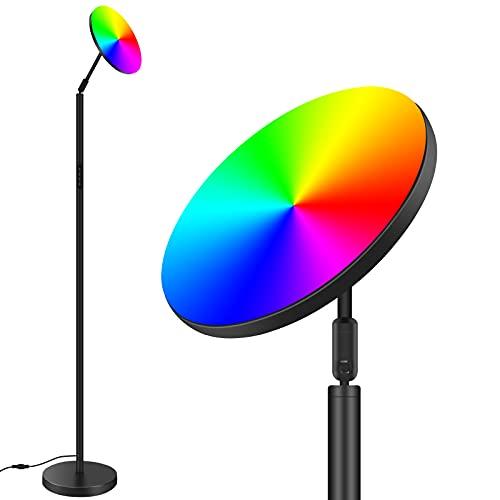 Stehlampe LED Dimmbar, 25W / 2300LM Modern Stehleuchten Bomcosy Farbwechsel Stufenloses Dimmen Romantische Standleuchten, Standlicht mit Touch-Steuerung für Wohnzimmer, Schlafzimmer, Büro