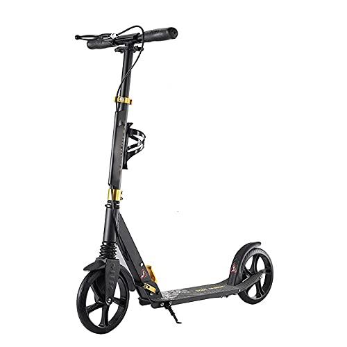 De múltiples fines Adecuado for adolescentes y adultos scooters de altura de 3 niveles de altura ajustable, pedales gruesos plegables PU Ruedas de amortiguador Ruedas de aleación de aluminio Rodamient