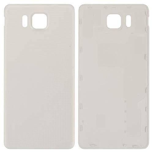 Carcasa de batería trasera de repuesto compatible con Samsung G850F Galaxy Alpha, (blanco)