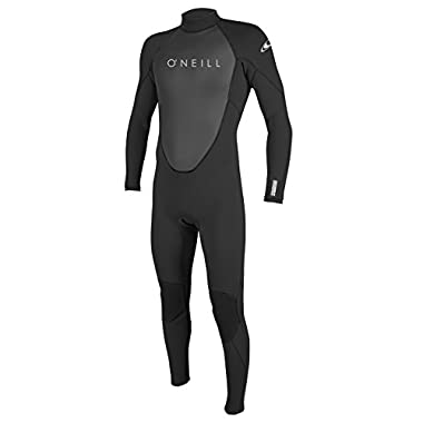 O'Neill Men's Reactor II 3/2mm Back Zip Full Wetsuit, Black, Large