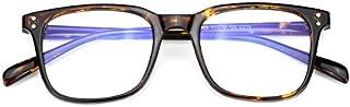 Mimoeye Oversized Full Rimmed Blue Light Filter Glasses Non-Prescription Lens for Women and Men