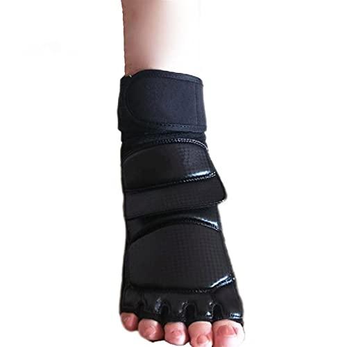 Marekyhm-es Taekwondo Cuero Foot Guantes Speca Karate Tobillo Protector Guardia Engranaje Boxeo Arts Martial Foot Guard Sock Adulto Kid (Color : Black, Size : XS)