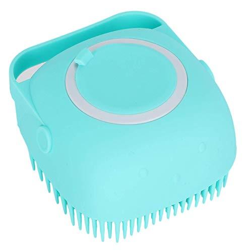 SALUTUYA Hundebürste, Pflegebürste, Hundebürste Kann mit Duschgel gefüllt Werden, zum Waschen von Haustieren, Hunden, Katzen, Pferden zum Waschen von Haustieren(Blue)