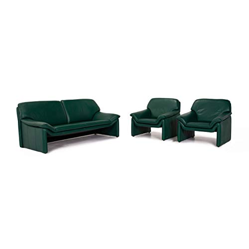 Laauser Atlanta Leder Sofa Garnitur Grün Dunkelgrün 1x Zweisitzer 2X Sessel #13921
