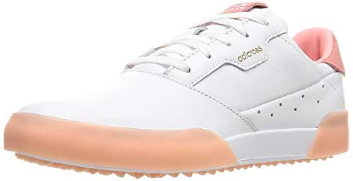 [アディダスゴルフ] ゴルフシューズ ウィメンズ アディクロスレトロ ホワイト/グローリーピンク/ホワイト 23 cm