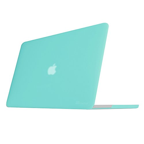 FINTIE Case for MacBook Pro 15 Retina (NO CD-ROM Drive) - Slim Snap On Hard Shell Protective Cover for MacBook Pro 15.4' with Retina Display A1398, Turquoise