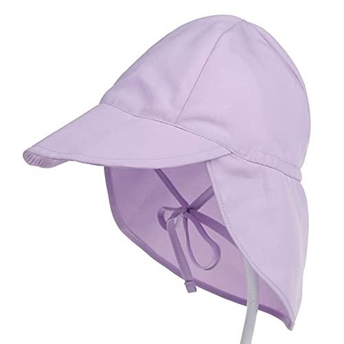 Sombrero para el Sol para bebé Gorra de Verano Ajustable para bebé para niños Viajes Playa Sombrero para niña Accesorios para bebés Sombreros para niños SL-Lavender solid-1-S(44-48cm)