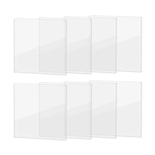 Create idea 8 Stück Transparente rutschfeste Möbelfüße Pads 70x70x5mm Quadratische Selbstklebende Matten für Stuhlbein Holzboden