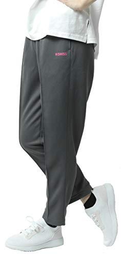 [ケースイス] ランニングウェア ジャージ レディース ブリスター ズボン 吸汗速乾 UVカット 消臭 チャコール M